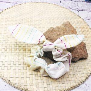 Multiwear Recycled Rainbow Stripes Hair Scrunchie